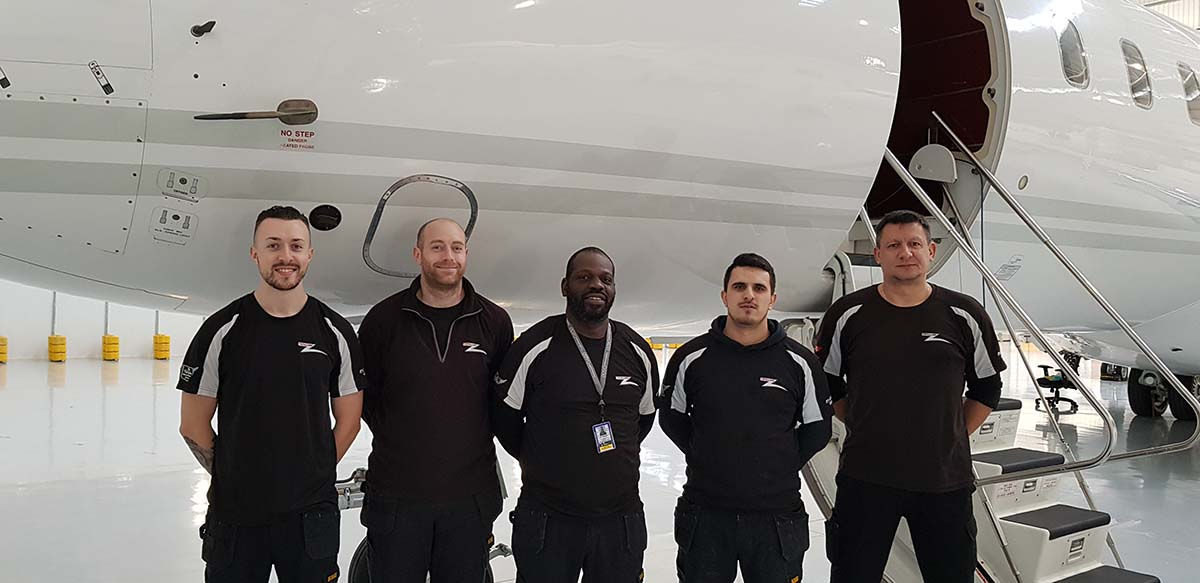 The Full Wax Team farborough Airport